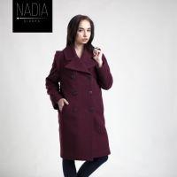 Дизайнерське Бордове Пальто від Nadiya Gladka